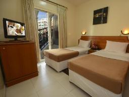 Kamer met tweepersoonsbed/2 aparte bedden