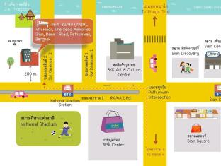 1-Bed Apartment at National Stadium BTS Station Bangkok - Our map for the taxi