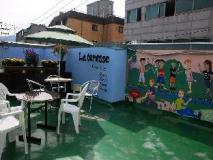 Guesthouse Korea: balcony/terrace