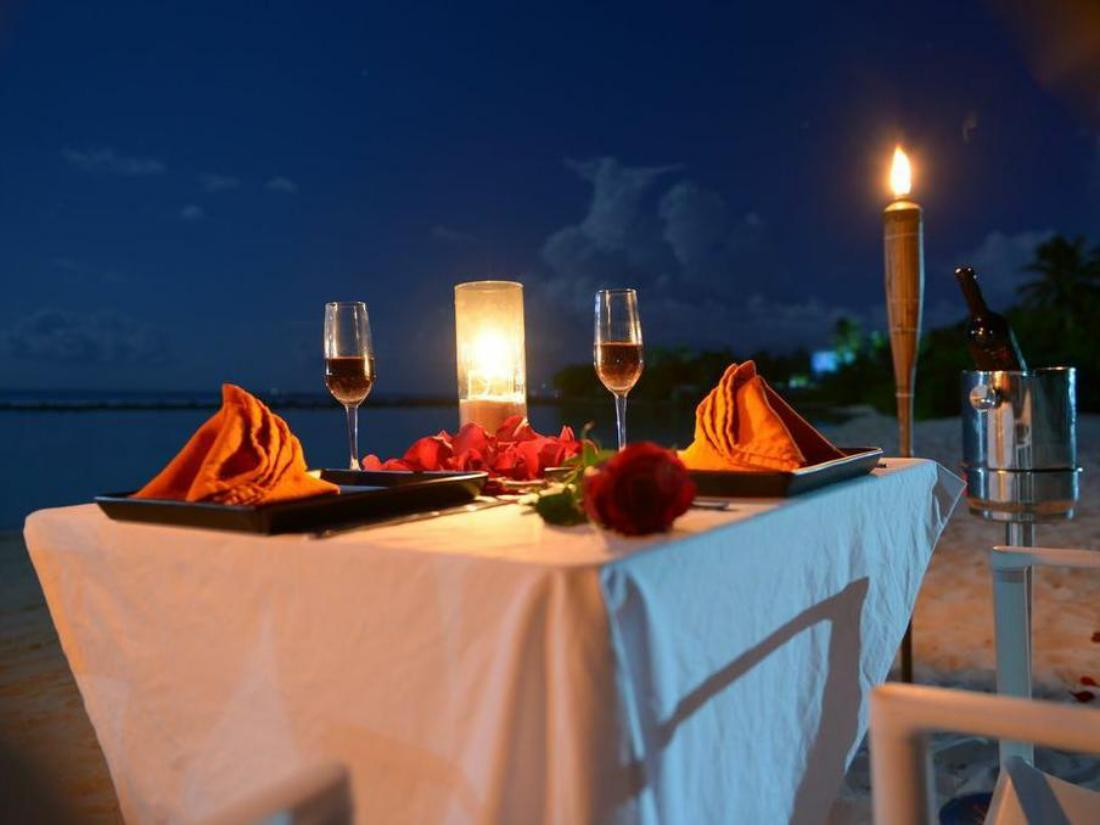Romantic Dinner Setup on the beach
