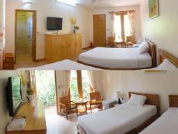 Bungalow Twin Bed - Air Conditioning