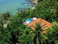 Villa frente al mar con piscina
