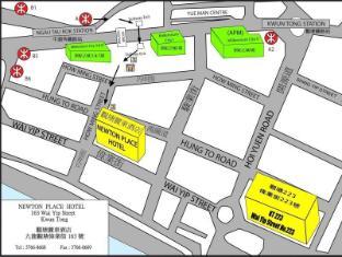 Newton Place Hotel Hong Kong - Map