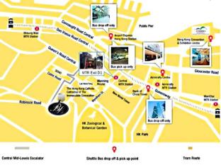 Bishop Lei International Hotel Hong Kong - Map