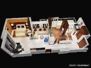 Studijos apartamentai su vaizdu
