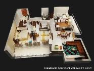 2 miegamųjų apartamentai